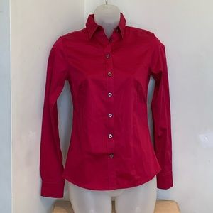 Banana Republic Cranberry Non-Iron Fitted Shirt